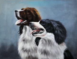 «Два спаниеля»картина 30х40 арт. 3А2