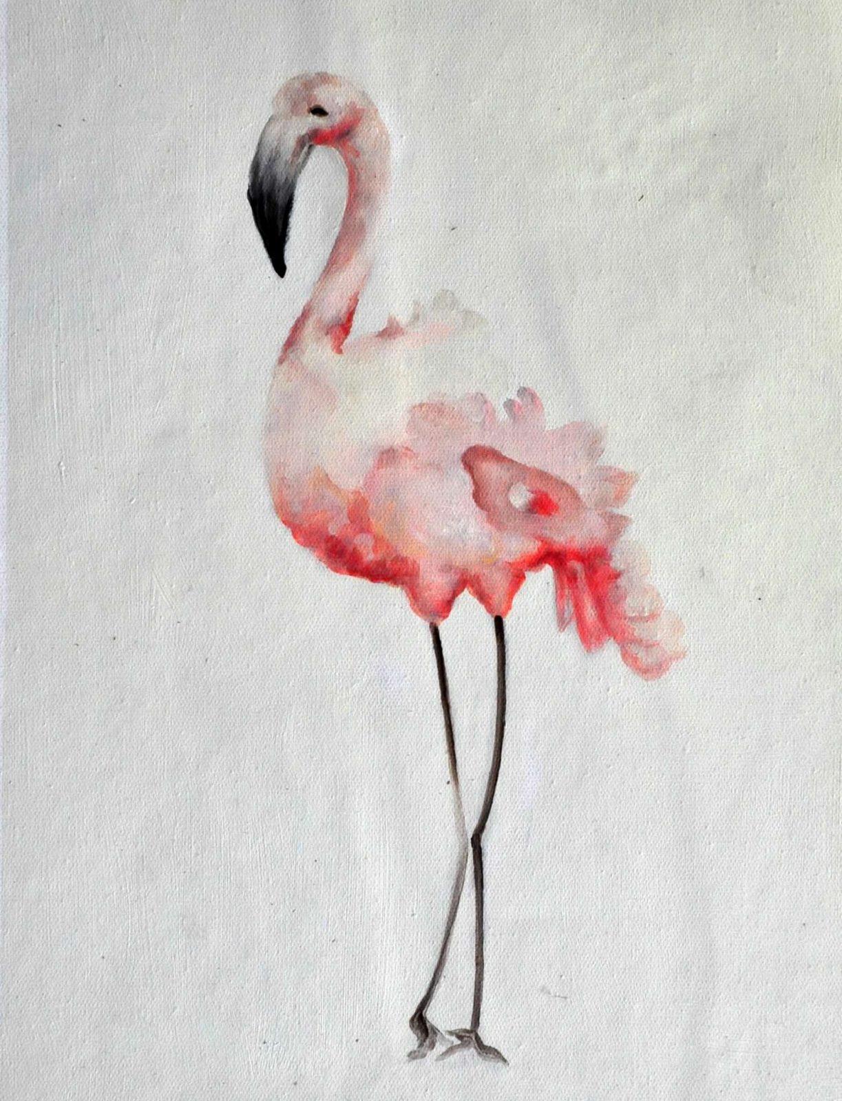 «Фламинго» картина 30х40 арт. 3А3