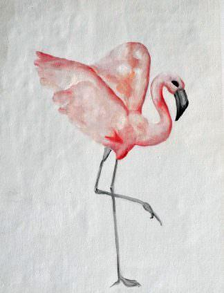 «Фламинго» картина 30х40 арт. 3А004