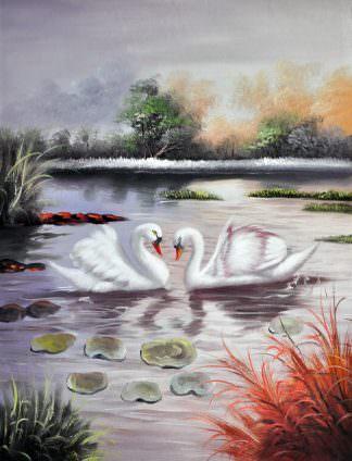 «Лебеди» картина 30х40 арт. 3А7