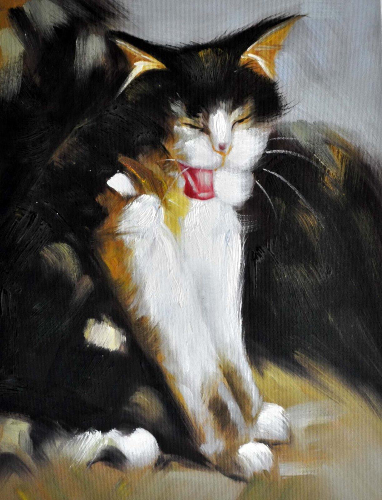 «Кошка» картина 30х40 арт. 3А8