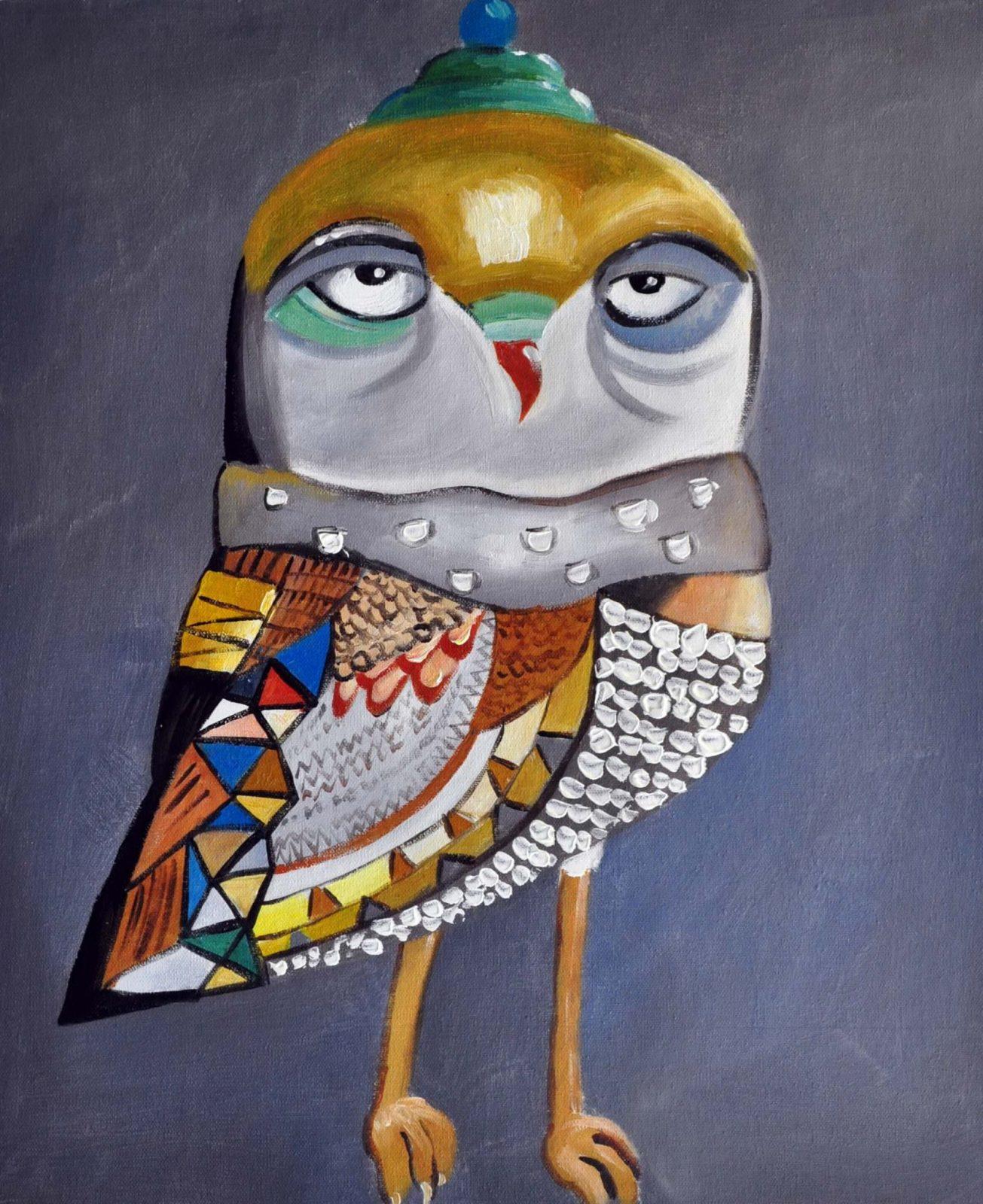 «Сова» картина 50х60 арт. 5A8