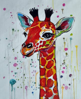 «Жираф» картина 50х60 арт. 5A12