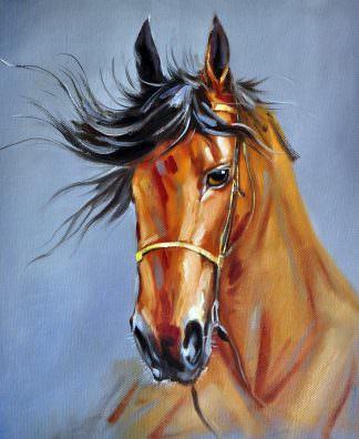 «Арабский скакун» картина 50х60 арт. 5A38