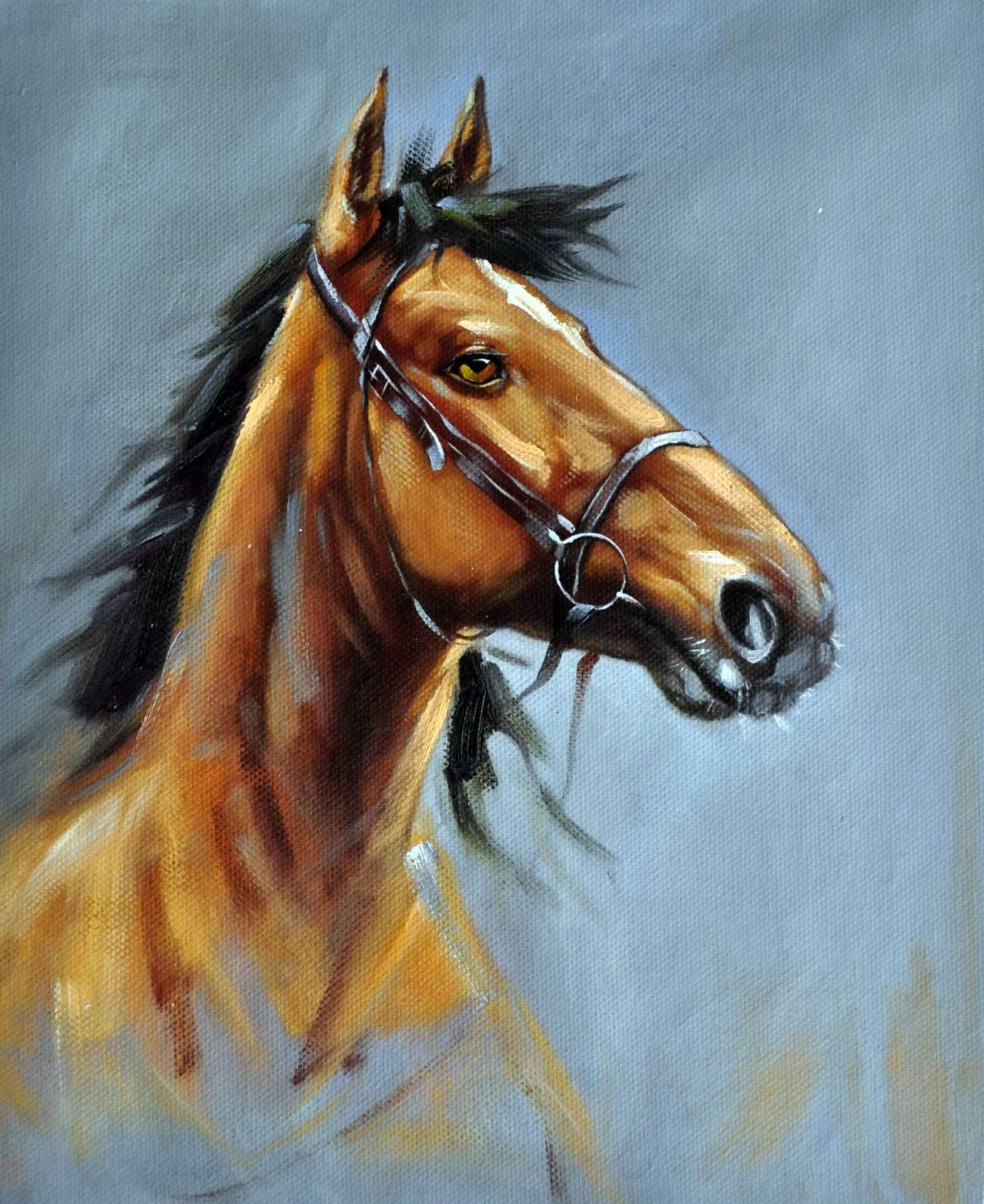 «Конь» картина 50х60 арт. 5A39