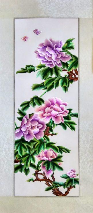 Вышивка шелком 42х96 «Цветущая ветка» арт.В15