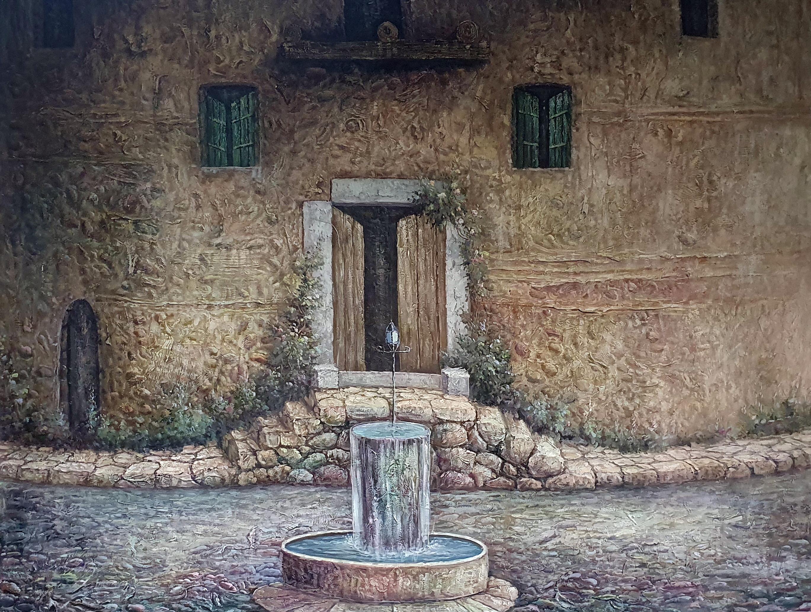 """The  fountain"" картина 90х120"