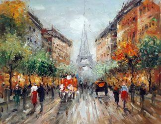 «Вид на Эйфелеву башню» картина 30х40 арт.3ГР080