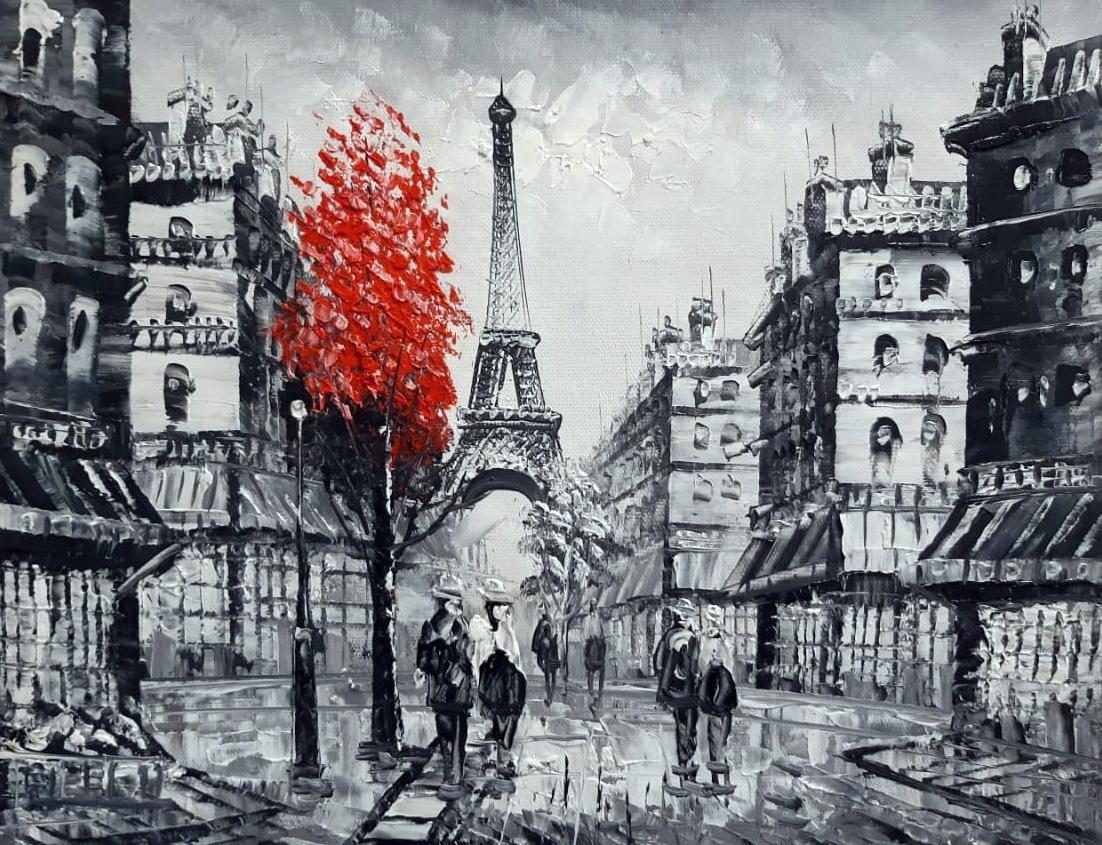 «Осень в Париже» картина 30х40 арт.3М041