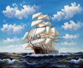 «На всех парусах» картина 50х60 арт.5С100
