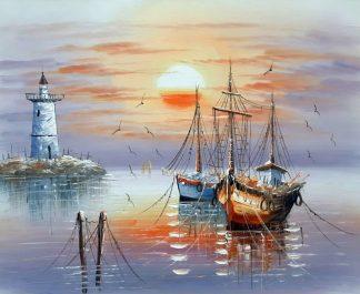 «Лодки» картина 50х60 арт.5Л101