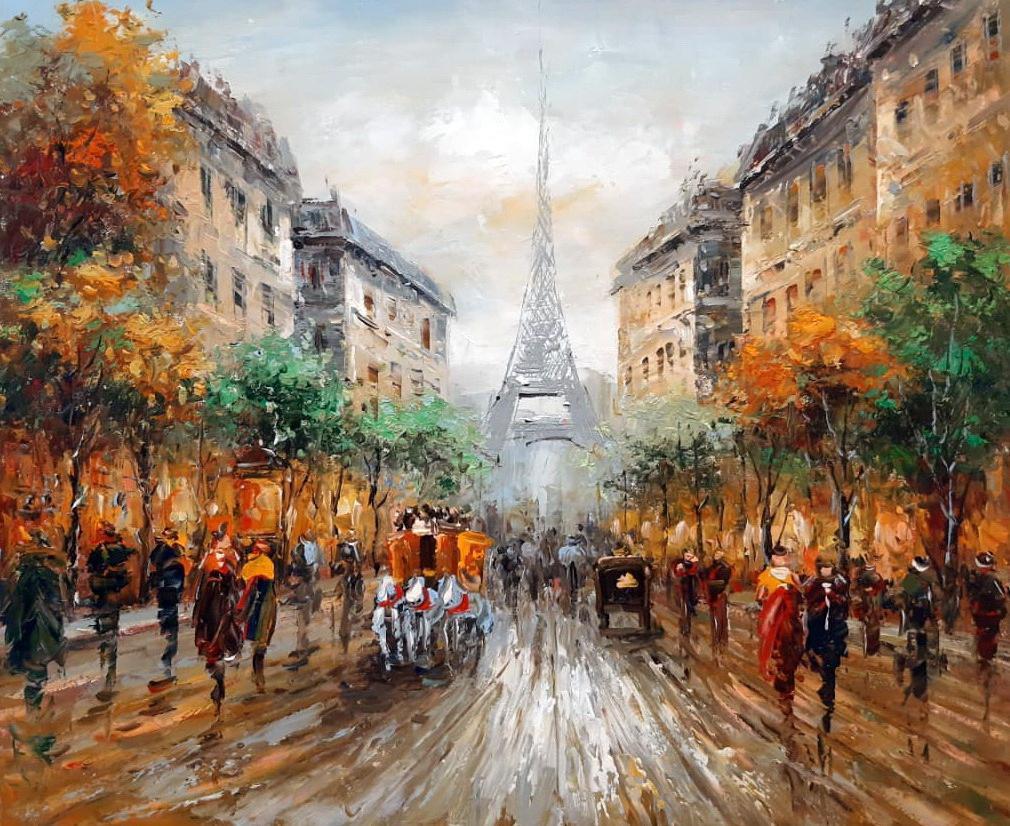 «Парижские улочки» картина 50х60 арт.5ГР212