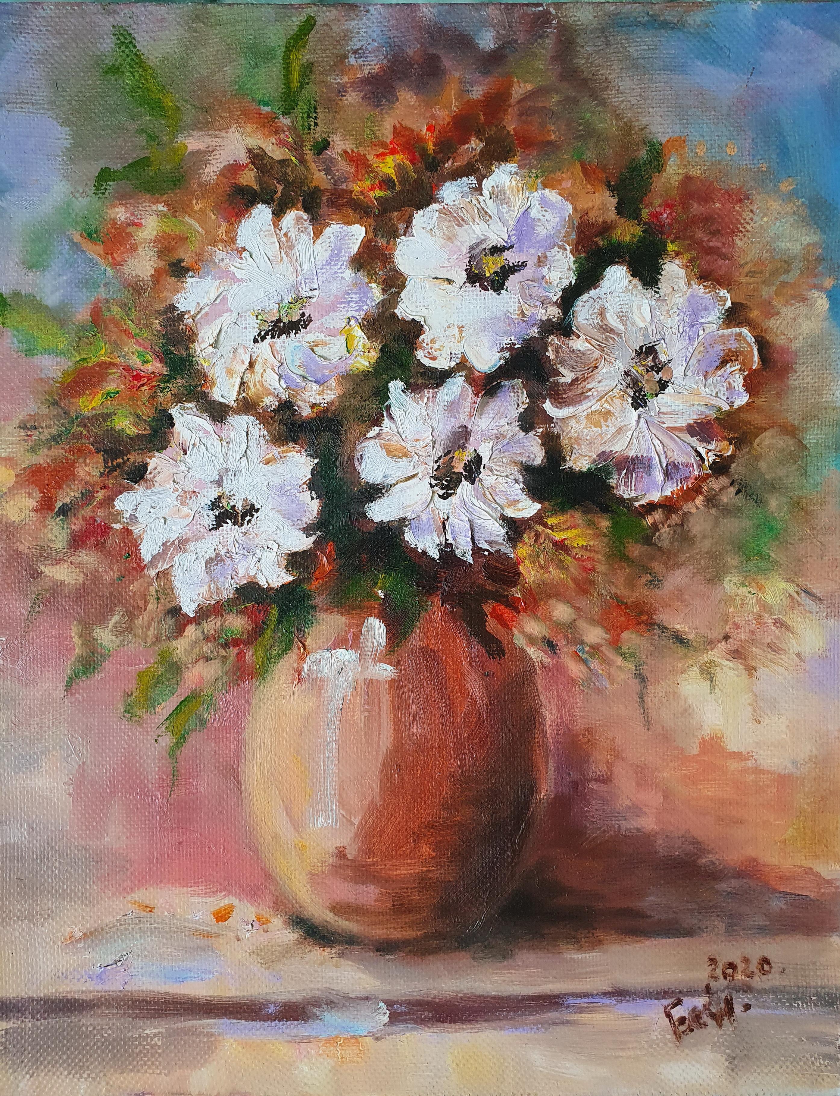 «Букет в вазе» картина 30х40 арт. 3Цх3