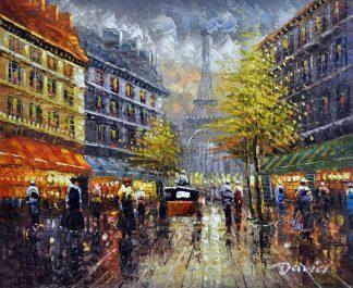 «Париж после дождя» картина 50х60 арт.5ГР116