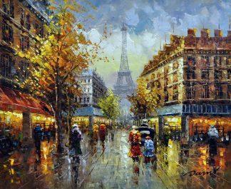 «Париж после дождя» картина 50х60 арт.5ГР119