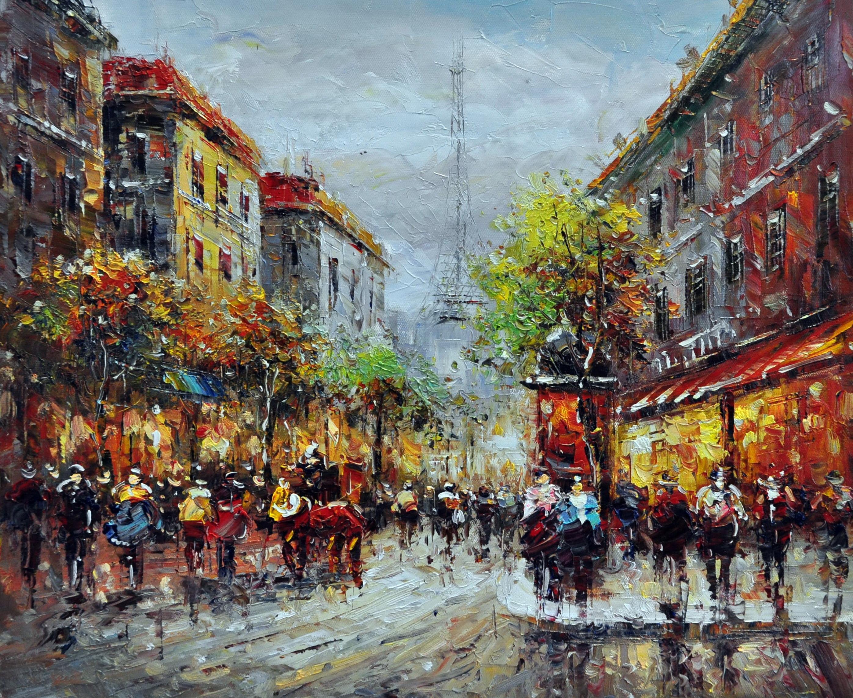 «Городской пейзаж» картина 50х60 арт.5ГР133