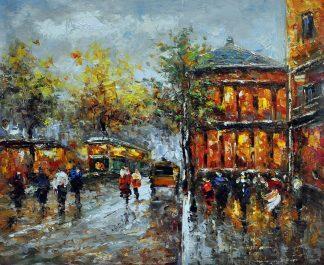 «Городской пейзаж» картина 50х60 арт.5ГР136