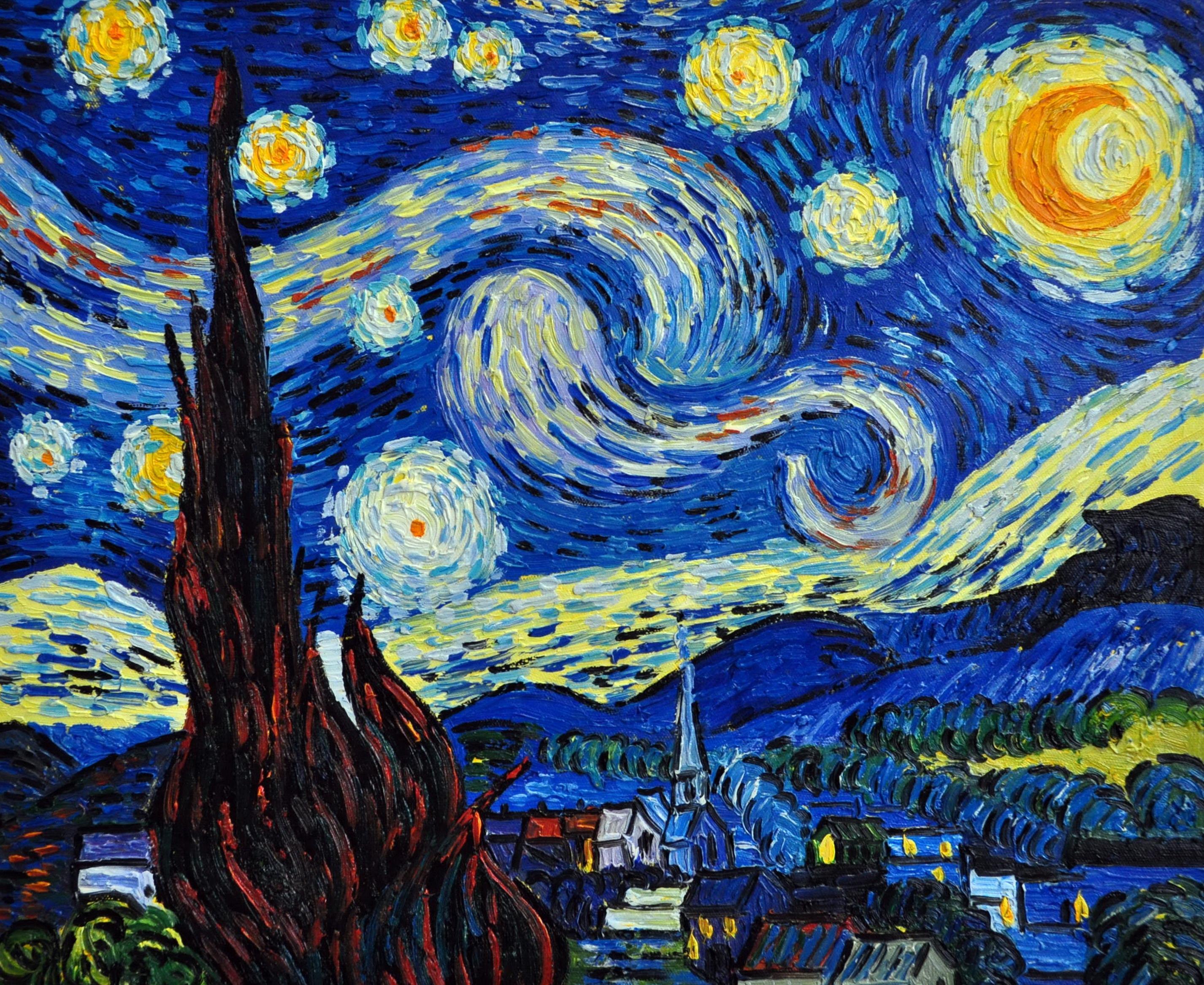 «Звездная ночь Ван Гога» картина 50х60 арт.5Р067