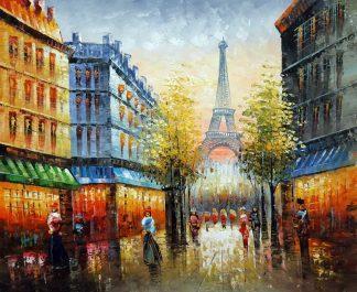 «Париж после дождя» картина 50х60 арт.5ГР211