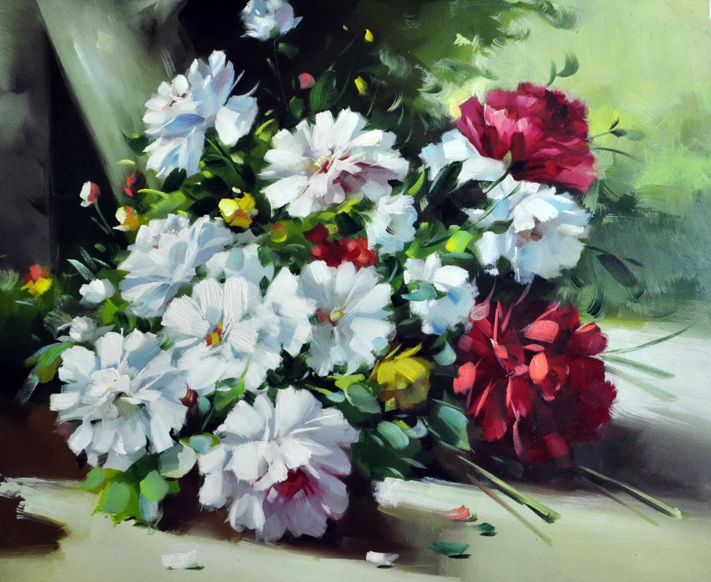 «Букет цветов» картина  50х60 арт.5Ц180
