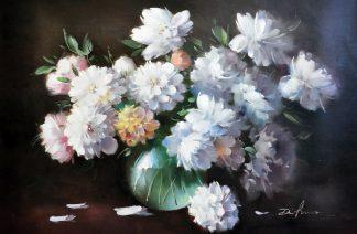 «Белые пионы» картина  60х90 арт.9Ц060