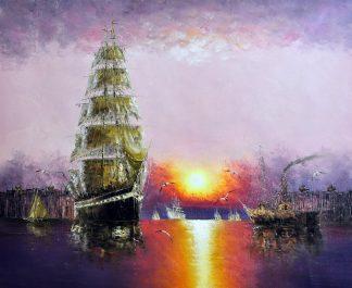 «Парусник» картина  50х60 арт.5Л070