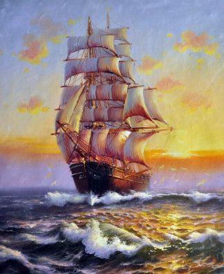 «На всех парусах» картина  50х60 арт.5Л072