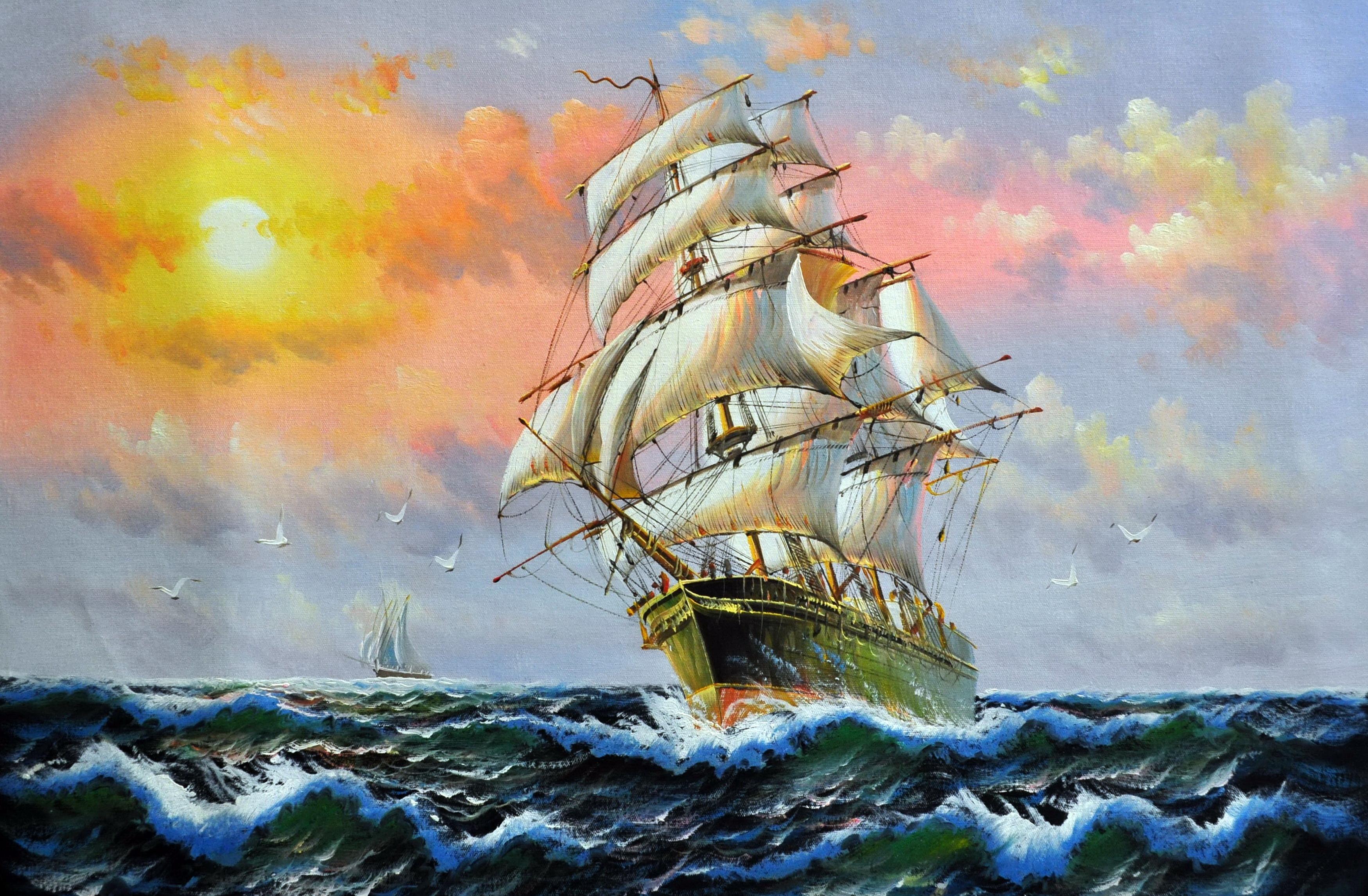 «Попутный ветер» картина  60х90 арт.9Л040