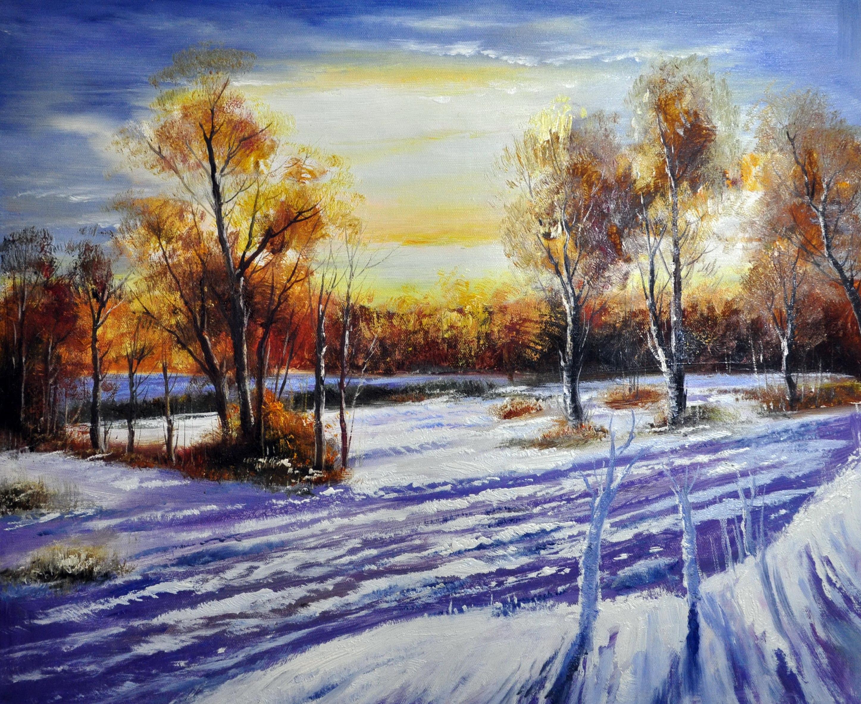 «Зимний пейзаж» картина  50х60 арт.5П081