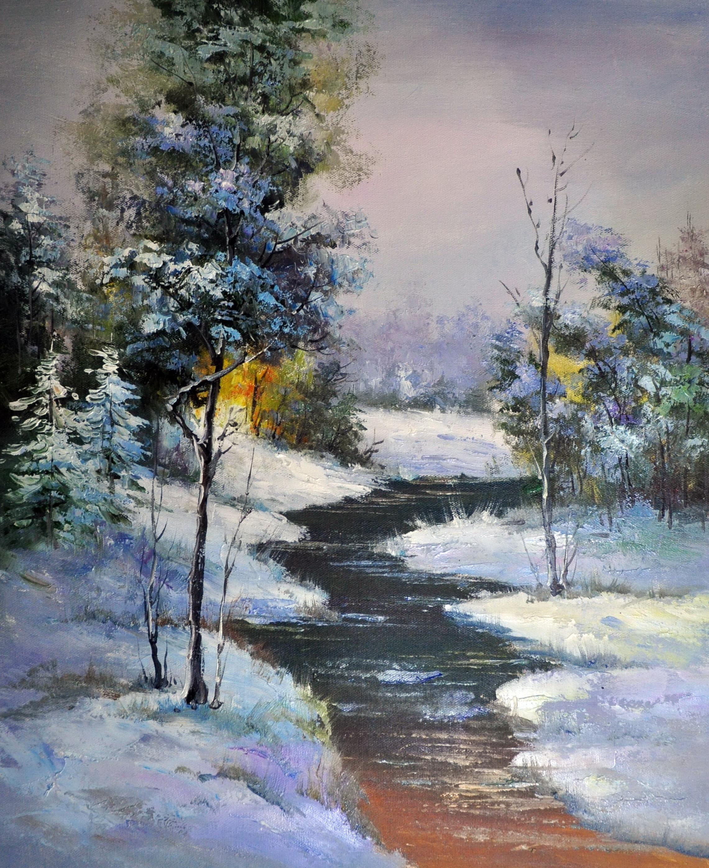 «Мартовский пейзаж» картина  50х60 арт.5П084