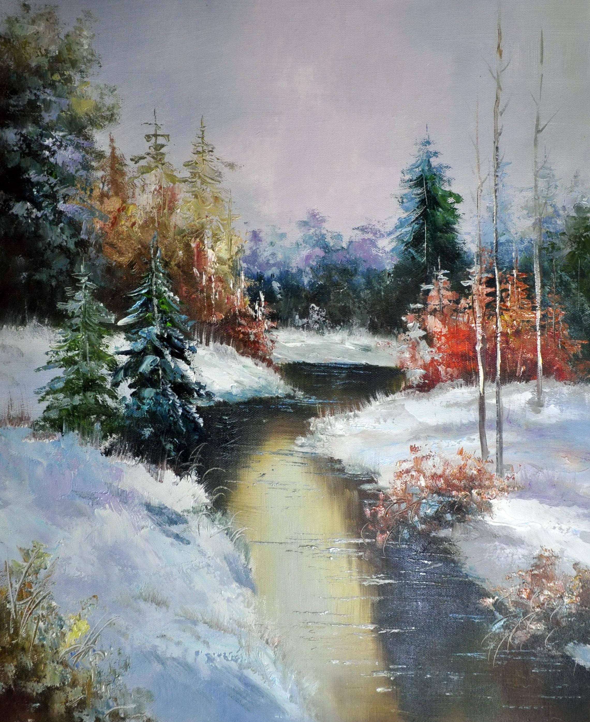 «Мартовский пейзаж» картина  50х60 арт.5П085