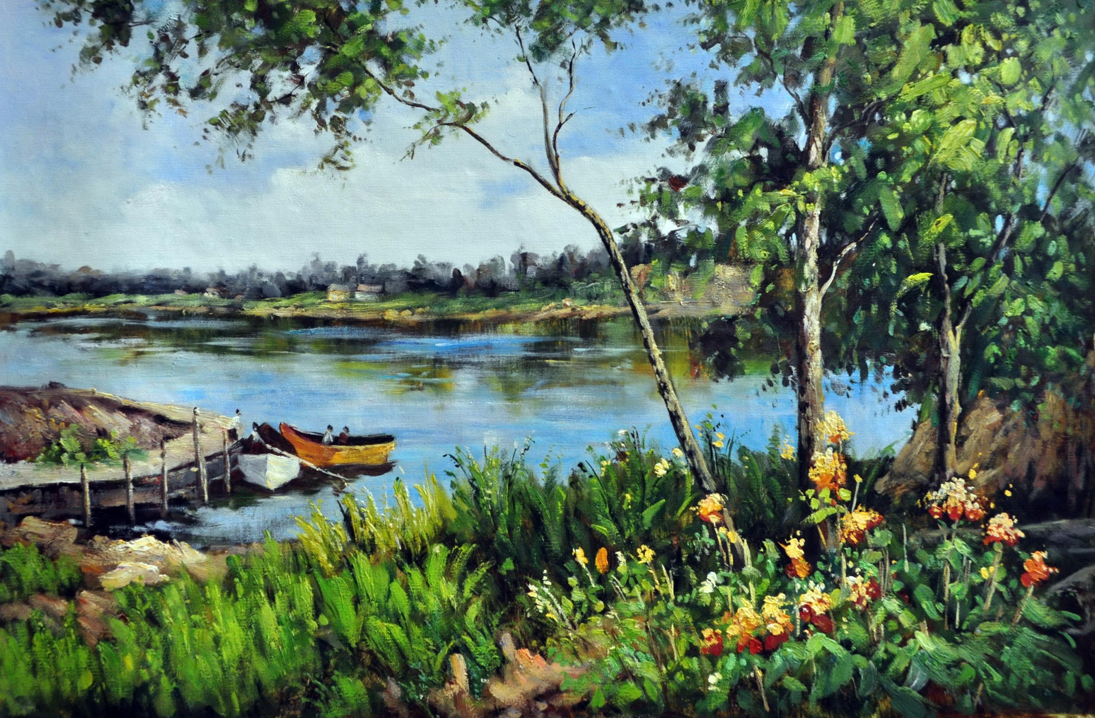 «Летний пейзаж» картина  60х90 арт.9П050