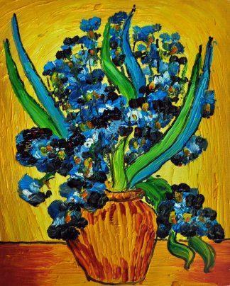 «Ирисы в вазе Ван Гога» картина  20х25 арт.2Е110