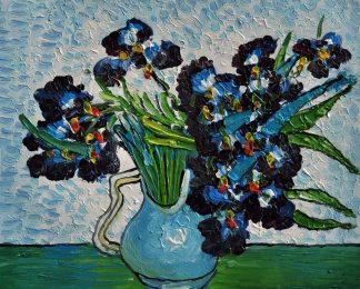 «Ирисы Ван Гога» картина  20х25 арт.2Е111