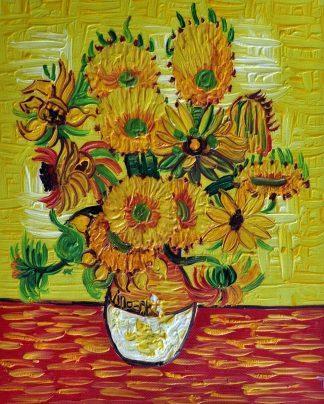 «Подсолнухи Ван Гога» картина  20х25 арт.2Е113