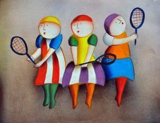«Теннисистки» картина  30х40 арт.3Р062
