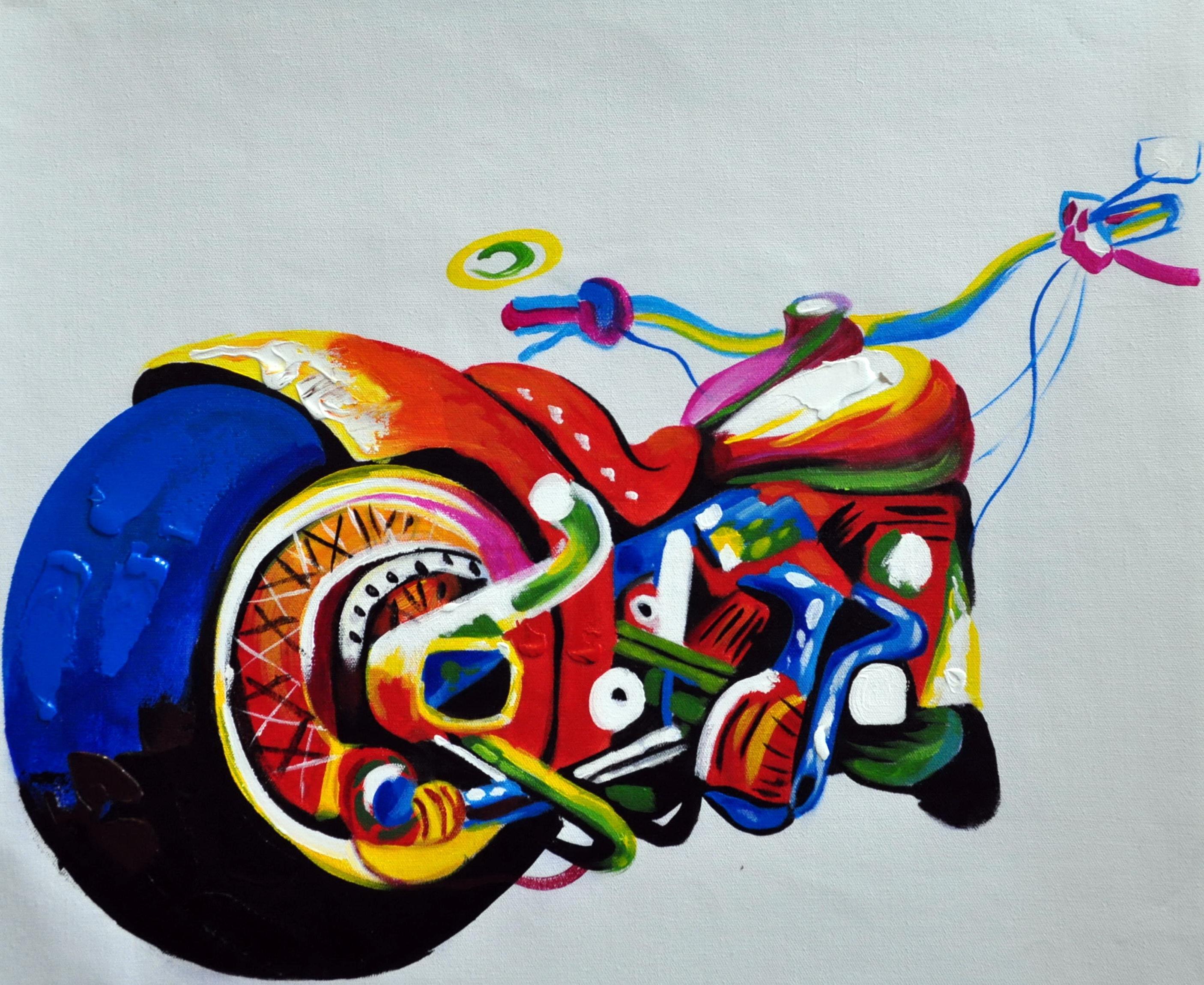 «Мотоцикл» картина   50х60 арт.5Р070