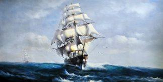 «В открытом море» картина  60х120 арт.Б075