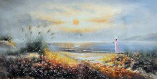 «Девушка у моря» картина  60х120 арт.Б076
