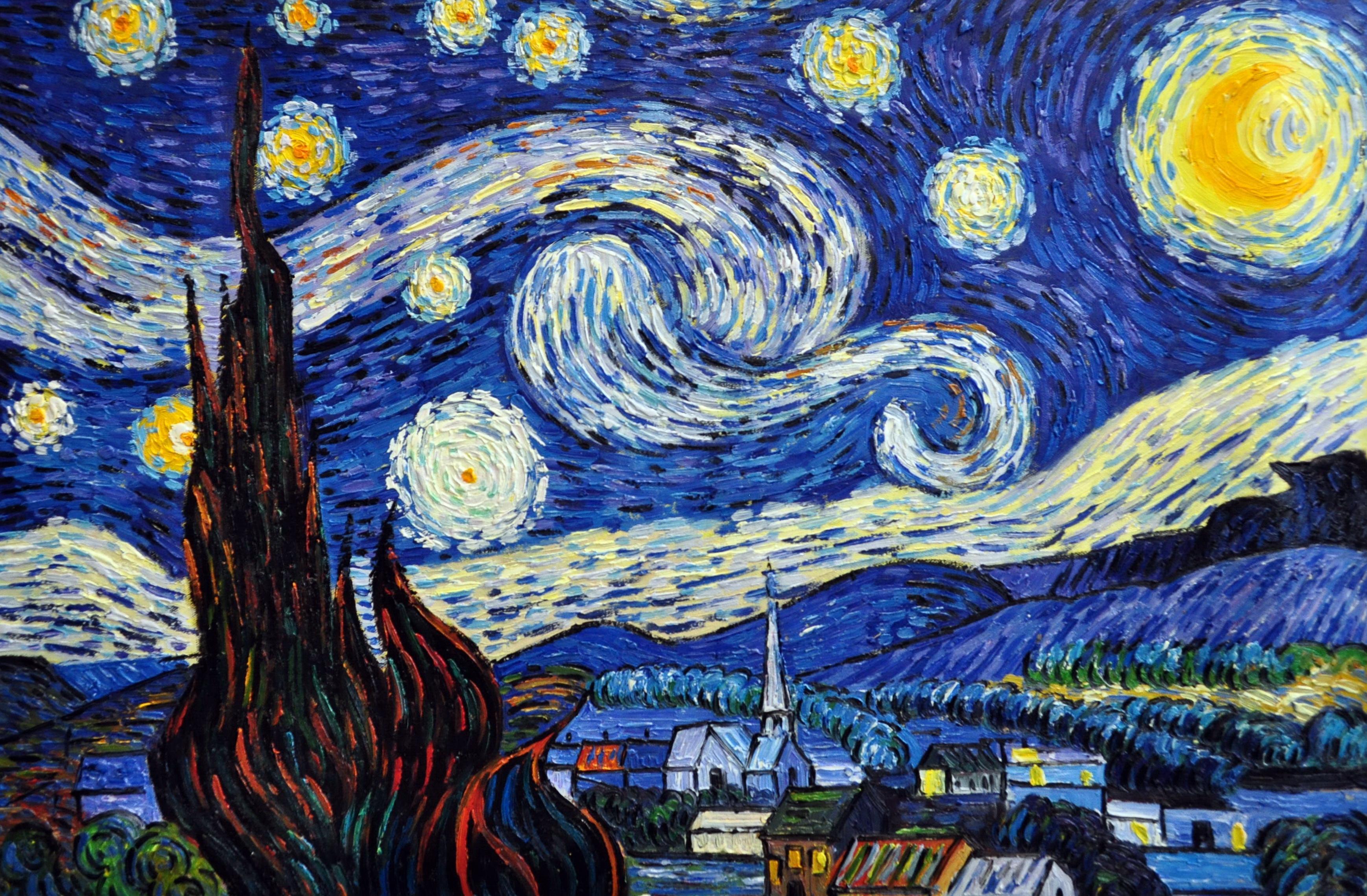 «Ночь Ван Гога» картина  60х90 арт.9Р030