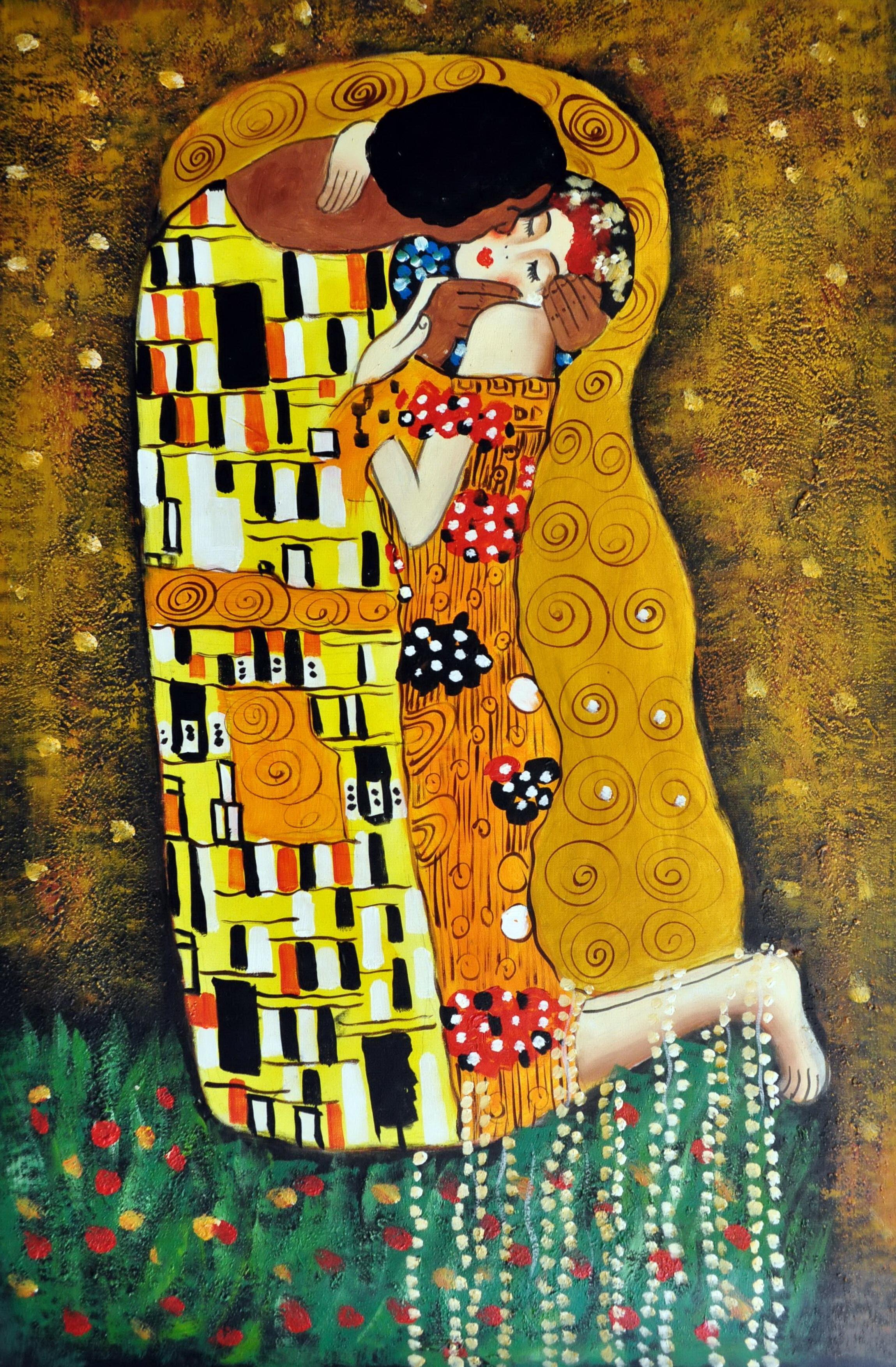 «Поцелуй Климта» картина  60х90 арт.9Р031