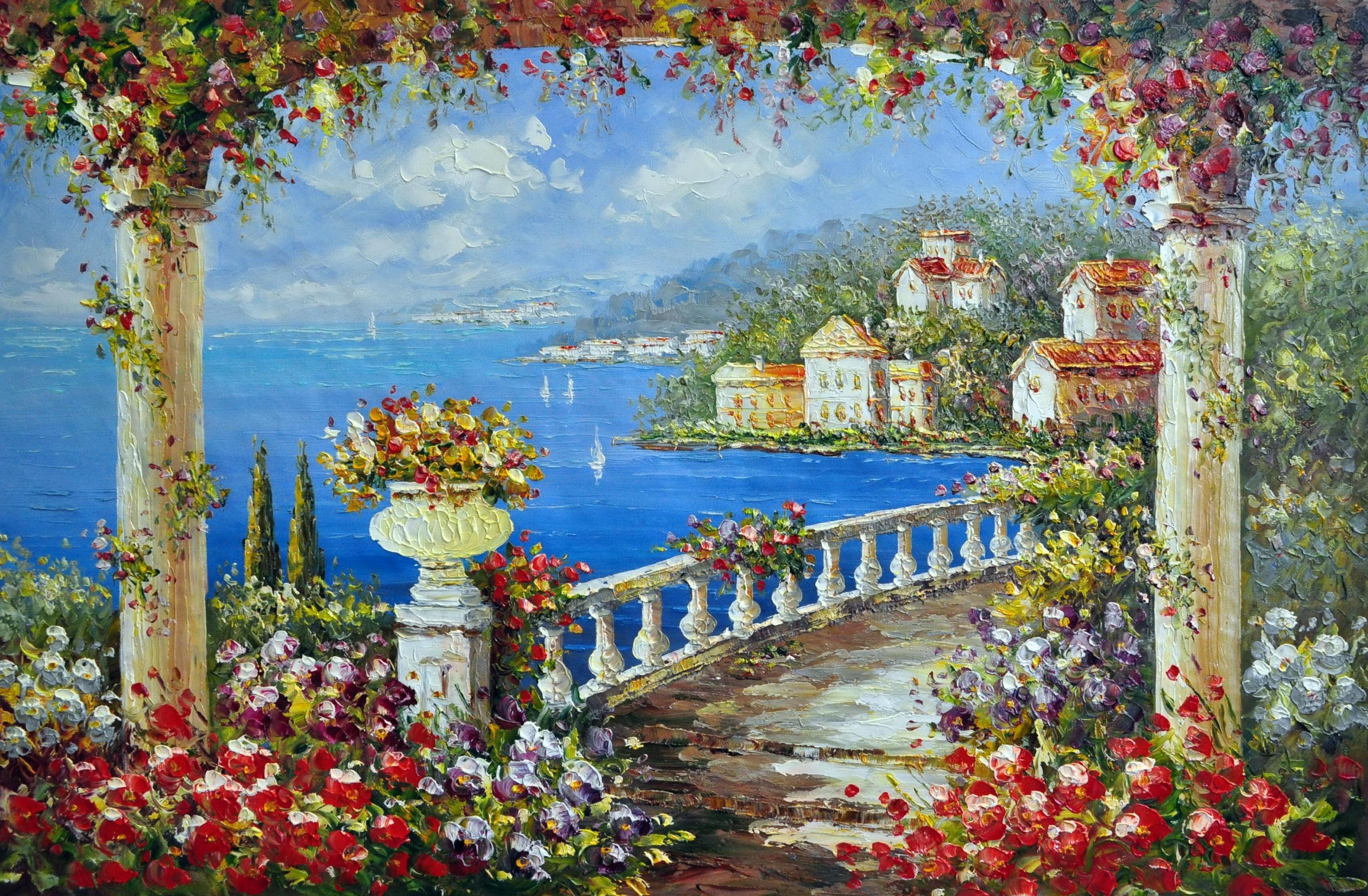 «Средиземноморье» картина  60х90 арт.9С012