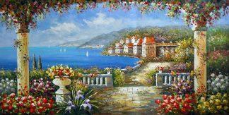 «Средиземноморье» картина  60х120 арт.Б092