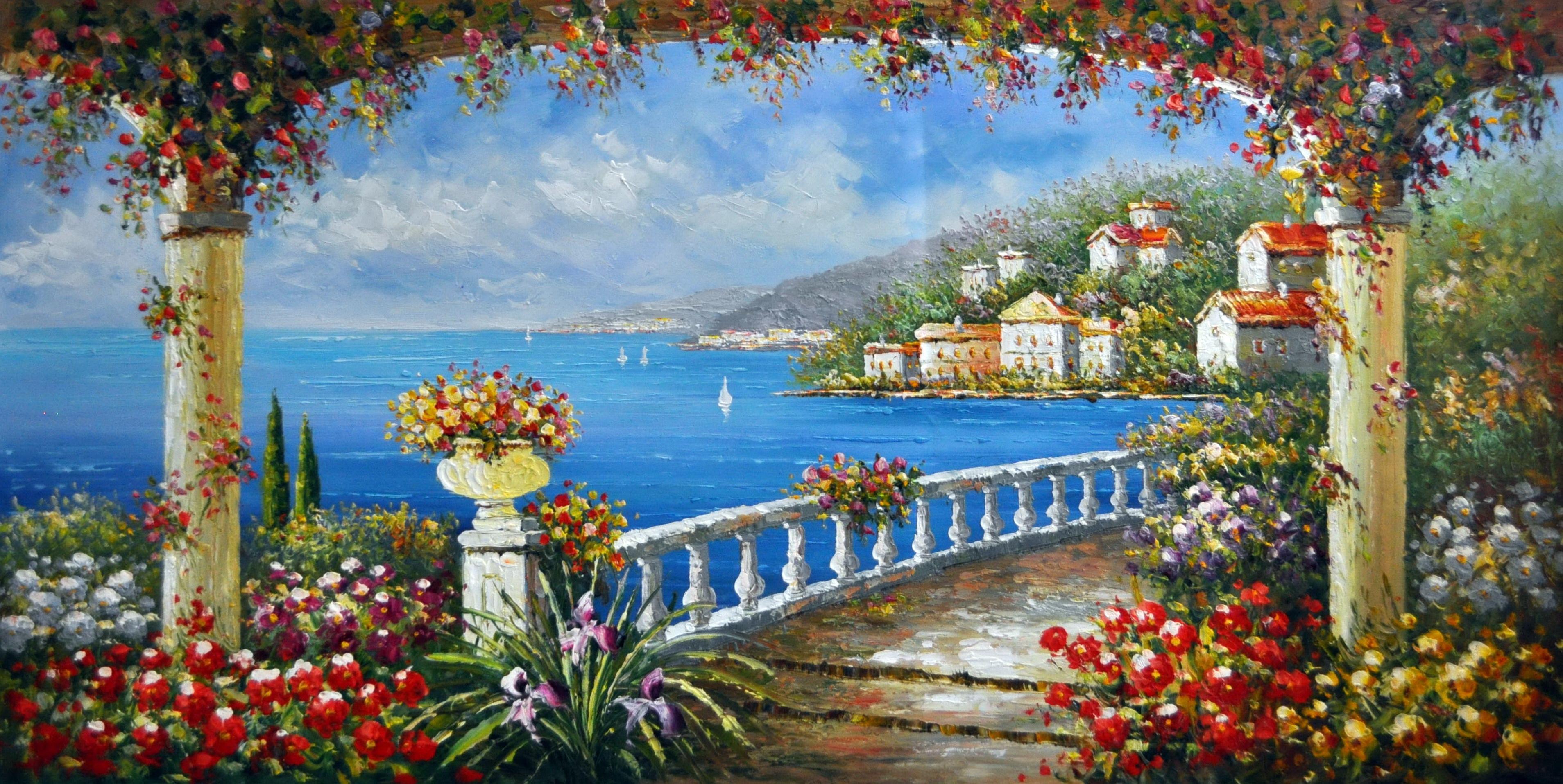 «Средиземноморье» картина  60х120 арт.Б093
