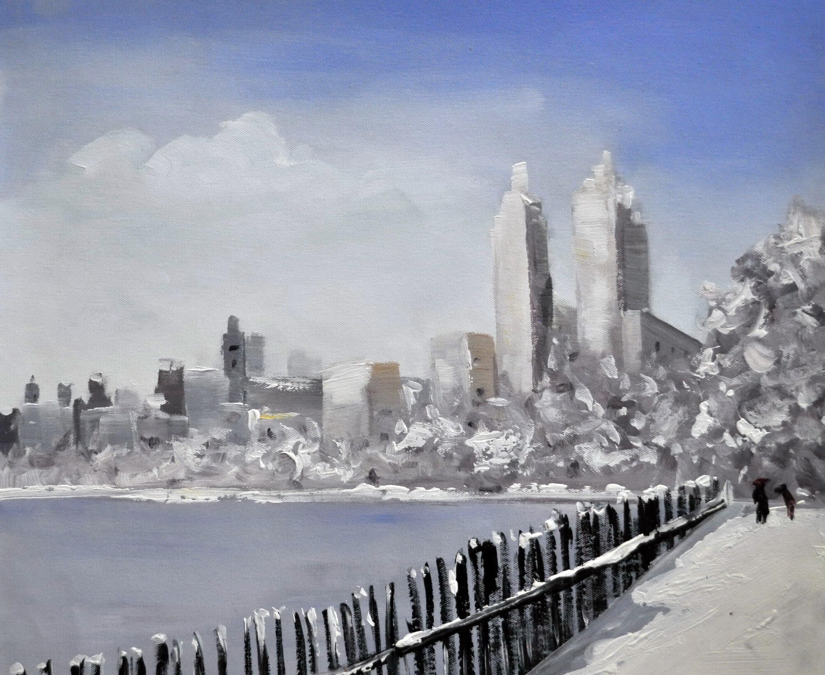 «Набережная Нью-Йорк» картина  50х60 арт.5ГР170