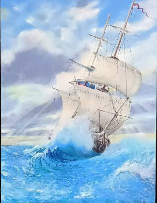 «На всех парусах» картина 30х40 арт.3ЛХ1