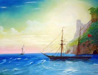 «Тихая гавань» картина 30х40 арт.3ЛХ2