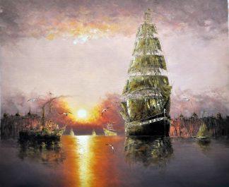«Лодка» картина 50х60 арт.5Лнал