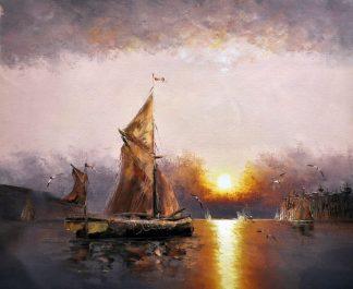 «Корабль» картина  50х60 арт.5Л083