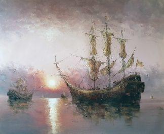 «Парусник» картина  50х60 арт.5Л084